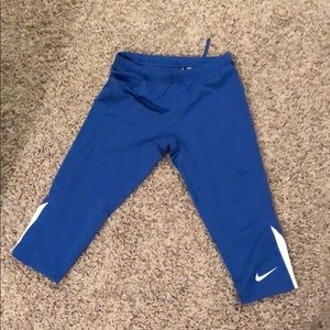 Dri-fit athletic Nike capris never been worn